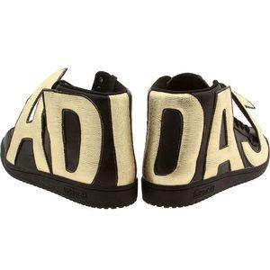 Jeremy Scott x Adidas Black / Gold Letter Sneakers